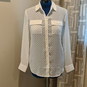 Banana Republic Swiss Dot Blouse
